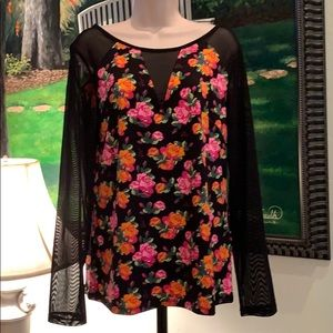 Betsy Johnson Never Worn Floral Top